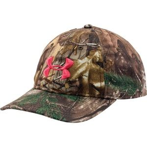 Under Armour camo & pink SnapBack hat